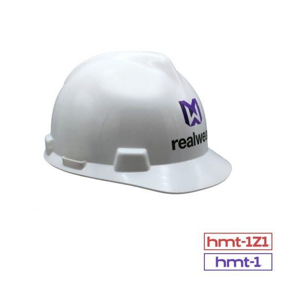 MSA V-Gard® Front Brim Hard Hat with RealWear Logo - Realtime AR